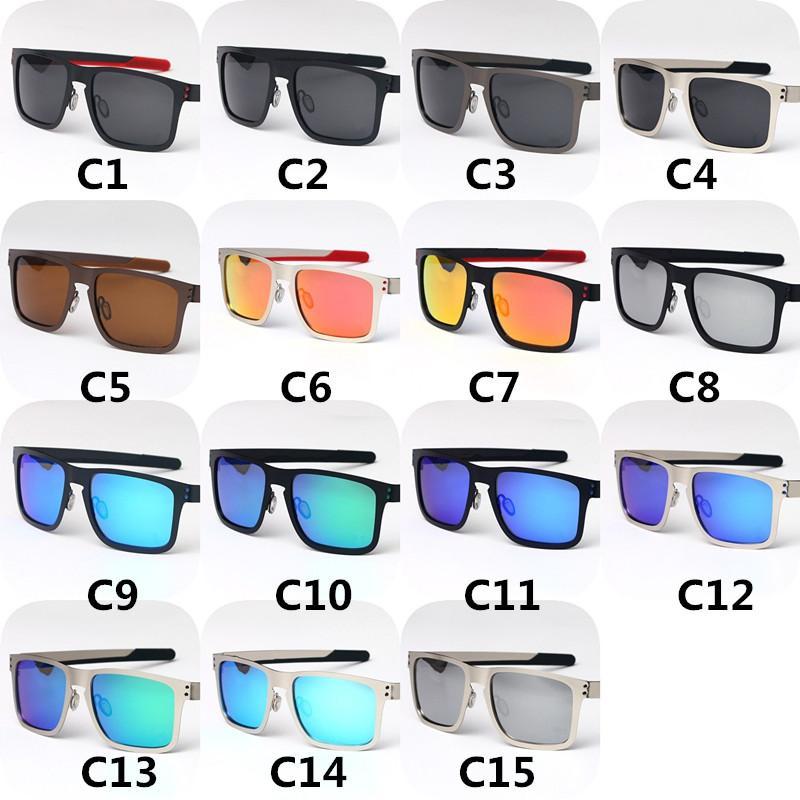 Óculos de sol polarizados de luxo retro moldura de metal sol óculos homens e mulheres motorista dirigindo óculos quadrados 15 cor