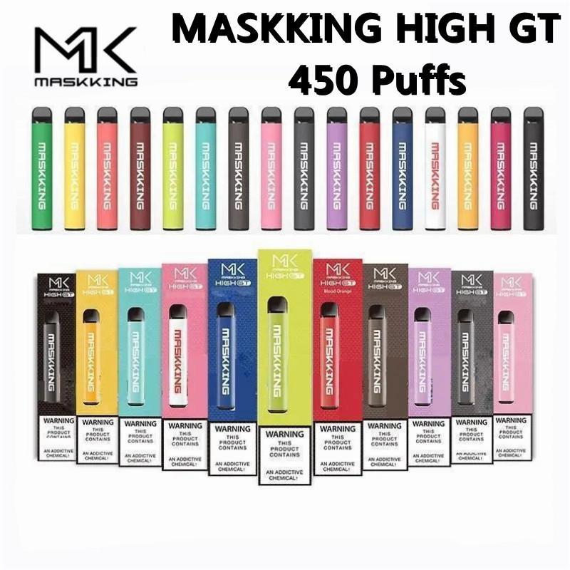 Maskking Haute GT Vape Vape Pen Dispositif VS MK Pro Max E Cigarettes 450 Puffs Capacité 2ML Capacité de 350mAh Batterie 15 couleurs