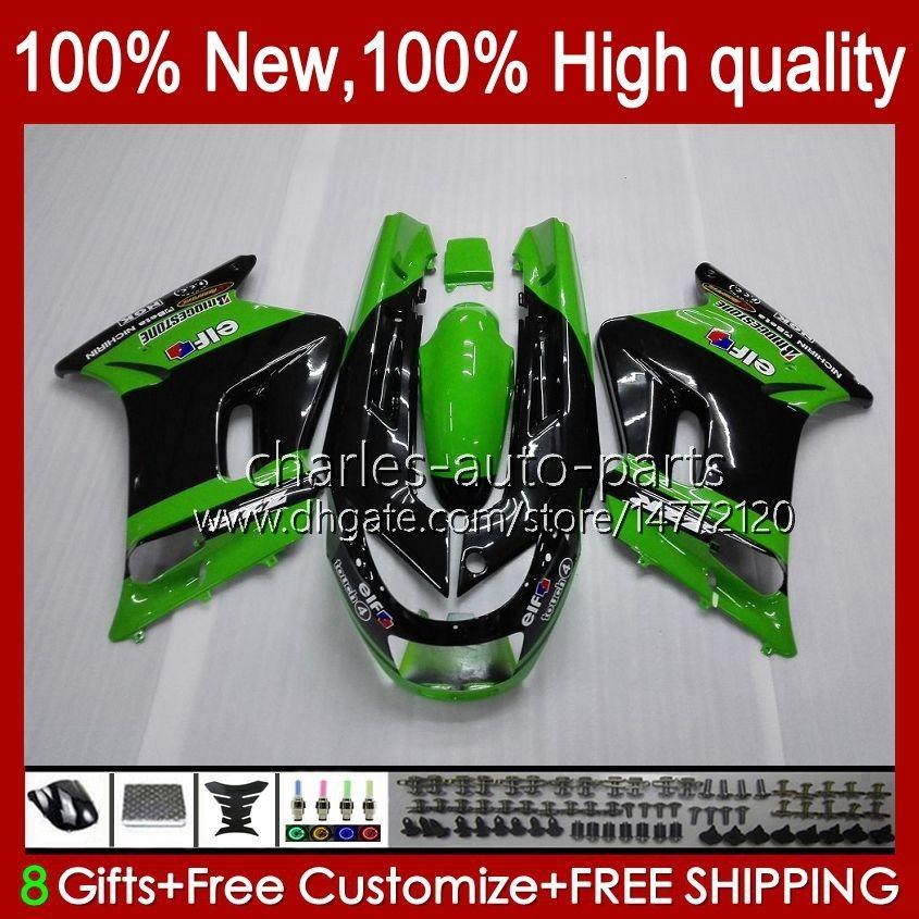 Bodys for Kawasaki Ninja Zzr250 zzr-250 90 95 96 97 98 99 Bodywork 54hc.0 zzr 250 CC 1990 1994 1992 1993 1994 1996 1996 1997 1998 1999 OEM 페어링 공장 녹색