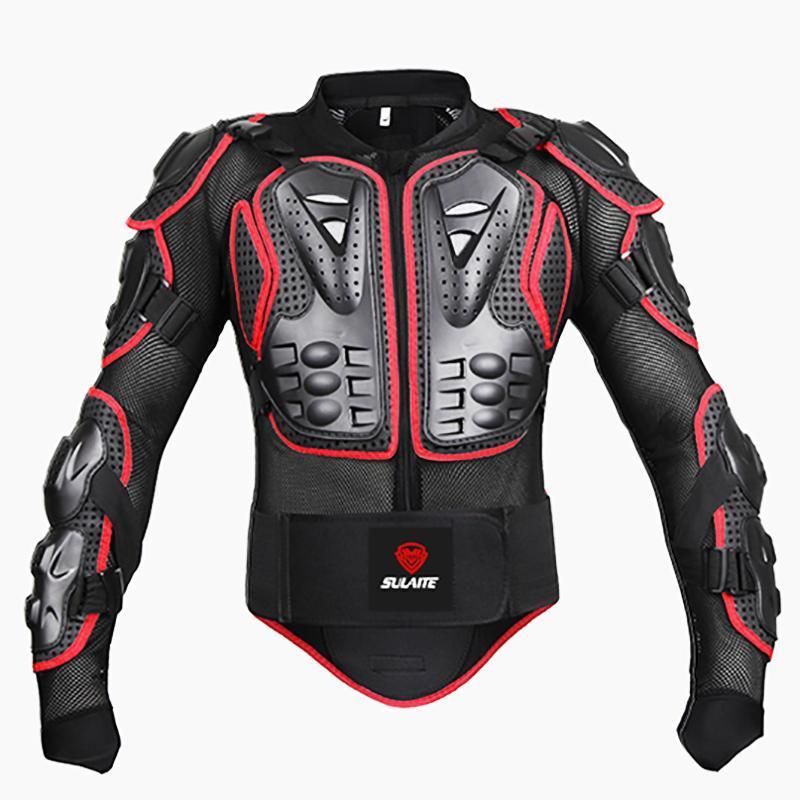 S-4XL Artı Boyutu Motosikletler Zırh Koruyucu Dişli Ceketler Motocross Tam Vücut Koruyucu Ceket Moto Çapraz Geri Koruma Motosiklet Giyim