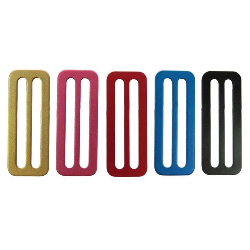 Poolzubehör Durable Aluminium 50mm Tauchjacke Weste Seitige Schnalle Gewicht Gürtel Slide Keeper d Ring Gurtband Harness Retainer Haltestelle