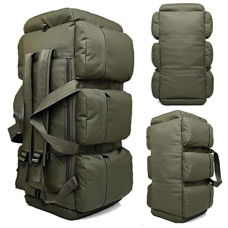 Outdoor Bags 2021 High Quality 90L Large Capacity Military Travel Oxford/canvas Backpack Camouflage Duffel Bag Waterproof