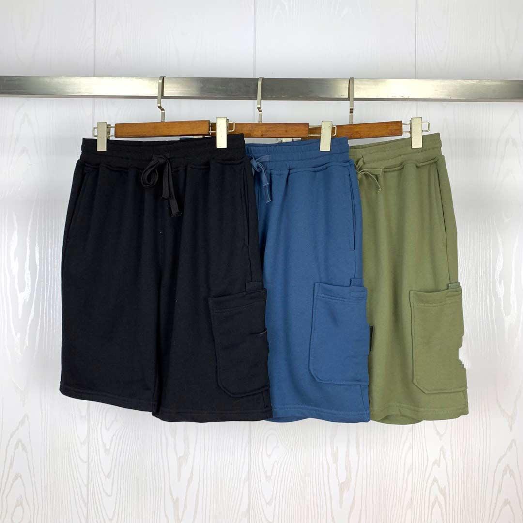 Moda Homens Shorts Carta Bordado Verão Ocasional Ocasional Knee Comprimento Alta Qualidade M-XL S01