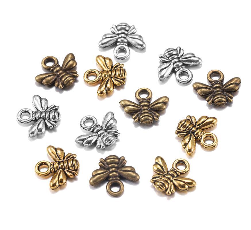 120 قطع سحر النحل 10x11 ملليمتر العتيقة diy النتائج المكونات مطلي المعلقات صنع اليدوية التبتية المجوهرات البرونزية 2021