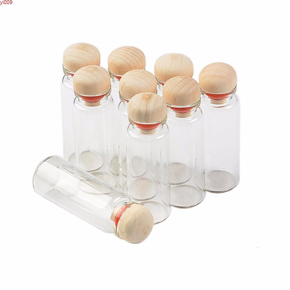 جرارات زجاجية شفافة مع الصلبة 14ML زجاجات زجاجات فارغة للهدايا 100pcsjars