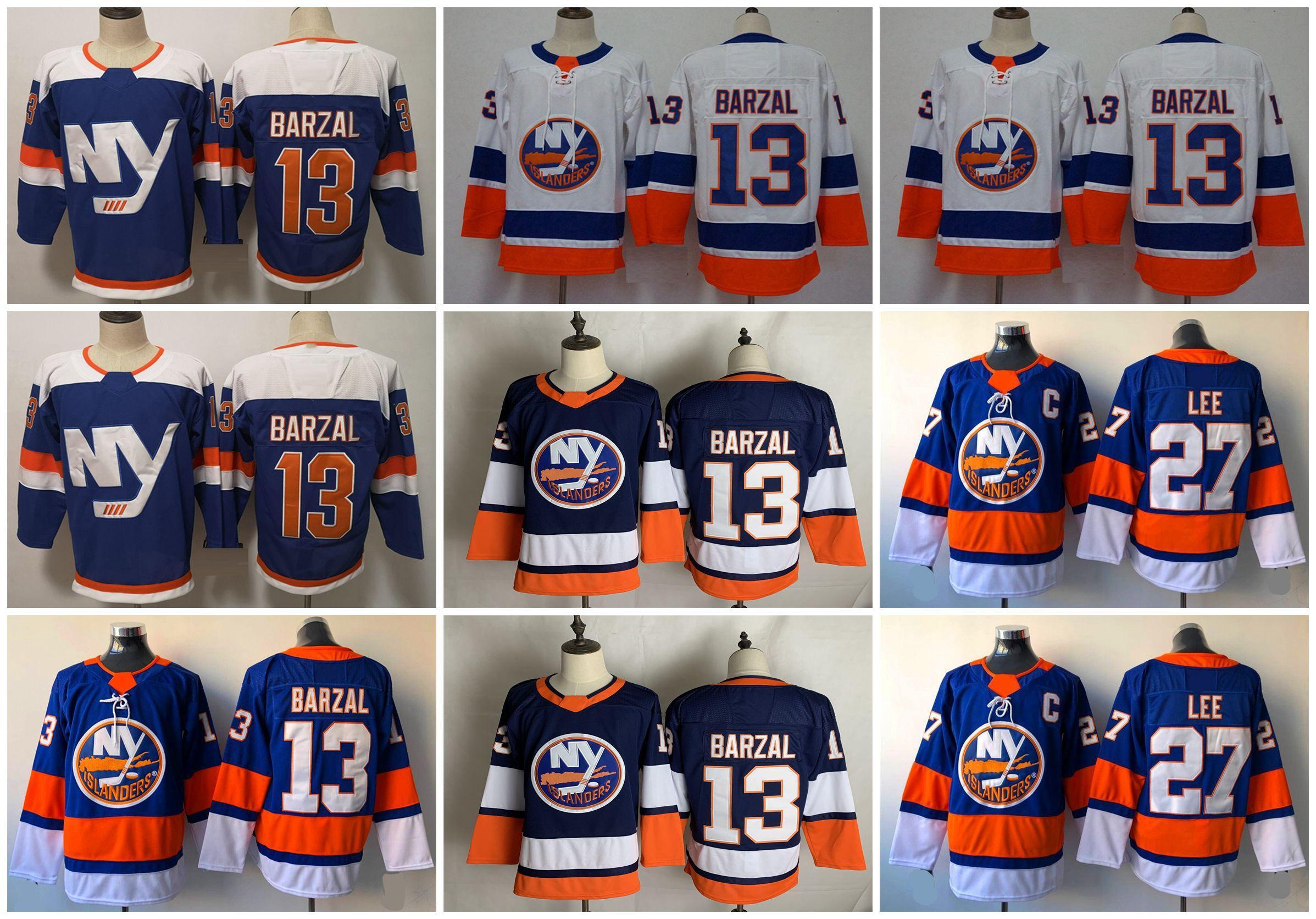 2021 York Islanders Hockey Jerseys Jerseys Mathew Barzal Jersey Jean-Gabriel Pageau Anders Lee Brock Nelson Anthony Beauvillier cosido