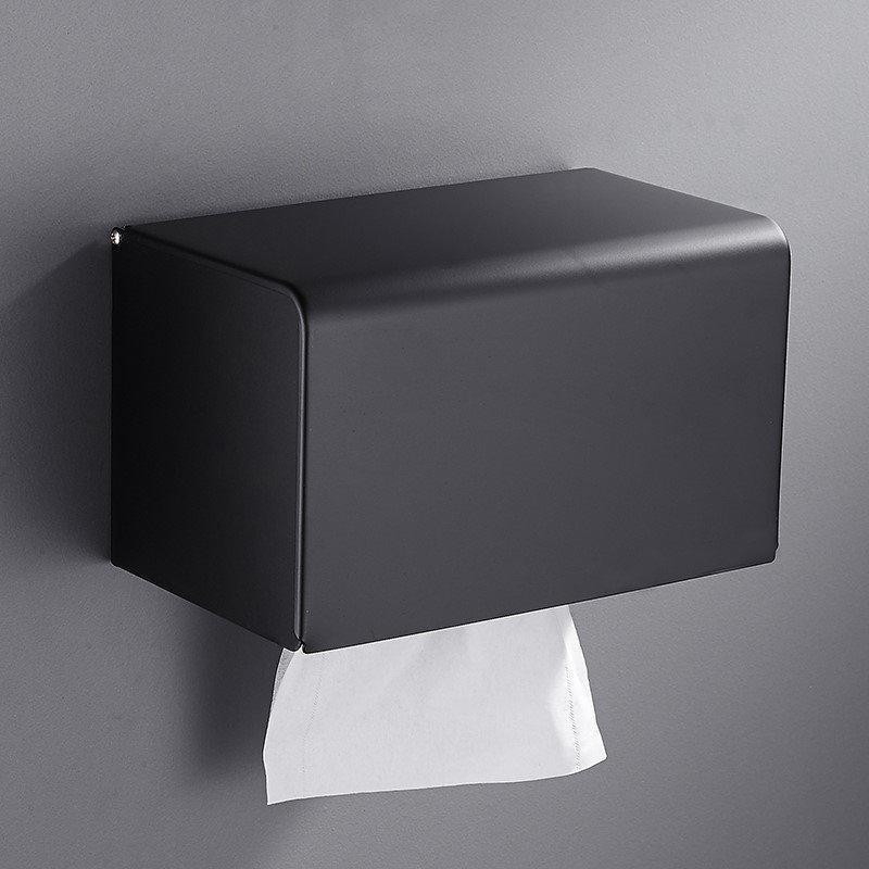 Cubierta de caja de tejido negro impermeable de lujo MODERNA MODERNA MODA MODA COCINA DE PORRAROTOLO Accesorios de baño DI50CZH Papel de papel