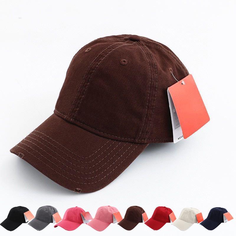 Cappellini da baseball di moda da uomo Cappellino unisex attivo con lettere ricamo regolabile 56,5-60 cm hiphop 8 colori