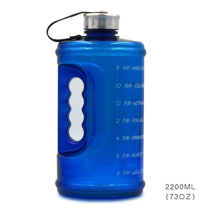 Quifit 128oz 73oz 43oz 1 Gallon BPA freier Kunststoff Big Getränk Wasserflasche Jug Kürbis für Reisesport Fitness Gym Wasserbottle Eco 201204