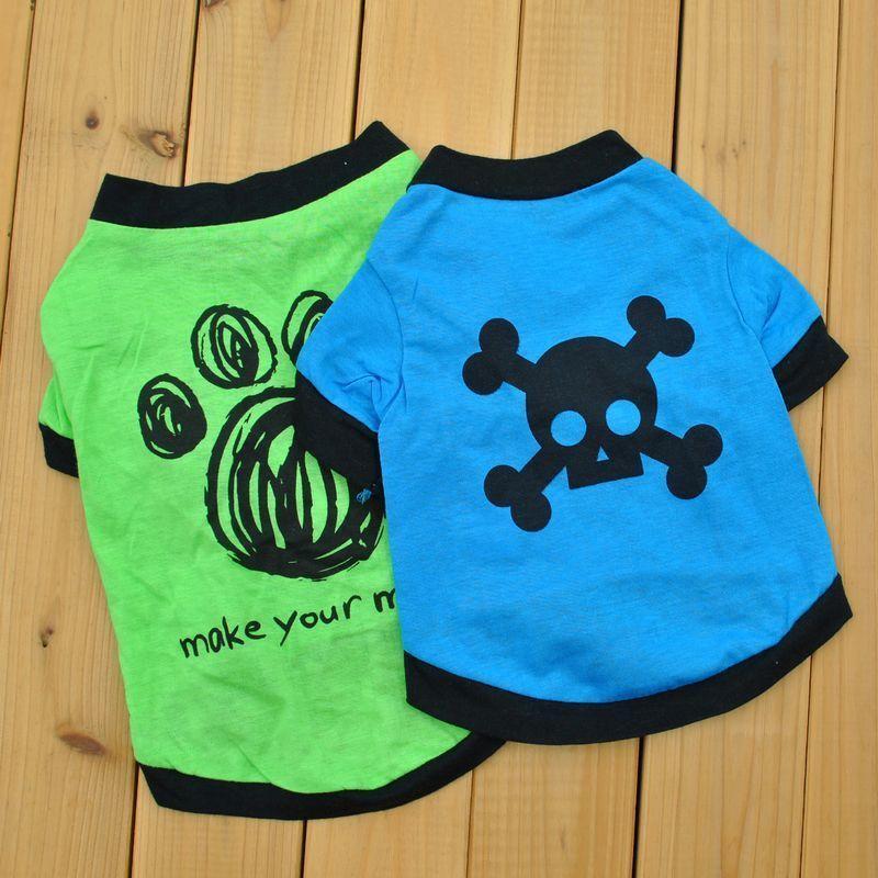 Köpek Giyim Giyim Köpekler Pamuk Ince Yaz Kısa Kollu T-Shirt Teddy VIP