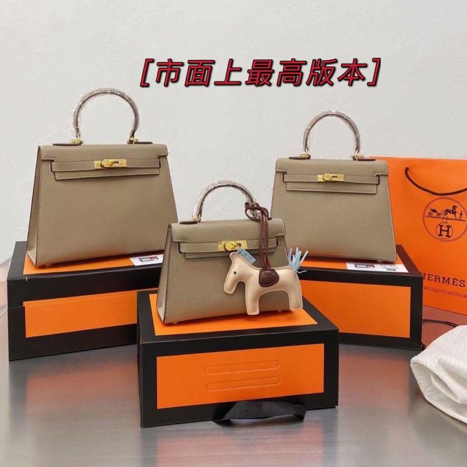 2021 New High Grade Leather Second Generation Kelly Versatile Women's Fashion One Shoulder Hand Messenger Bag
