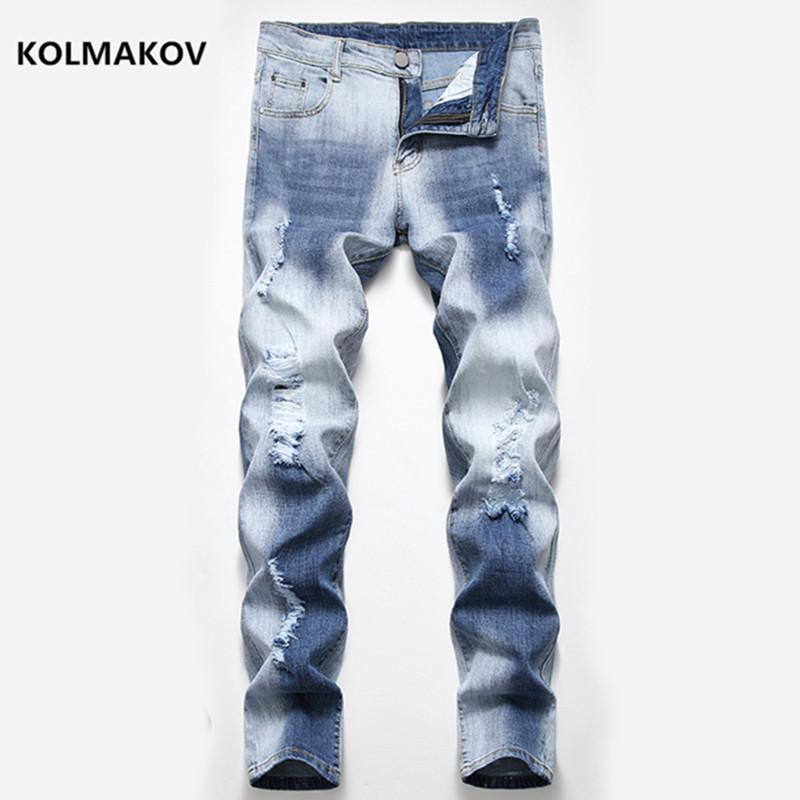 Arrivo Mens Jeans Denim Jeans Dritto Pantaloni a figura intera per l'elasticità di moda maschile Dimensioni 28-42