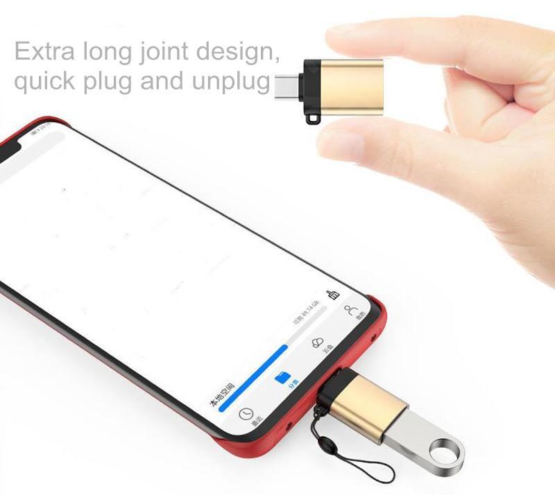 USB C to 어댑터 호환 OTG 유형 -C 3.0 전화 키보드 마우스 카메라 마이크 U 디스크 사운드 카드