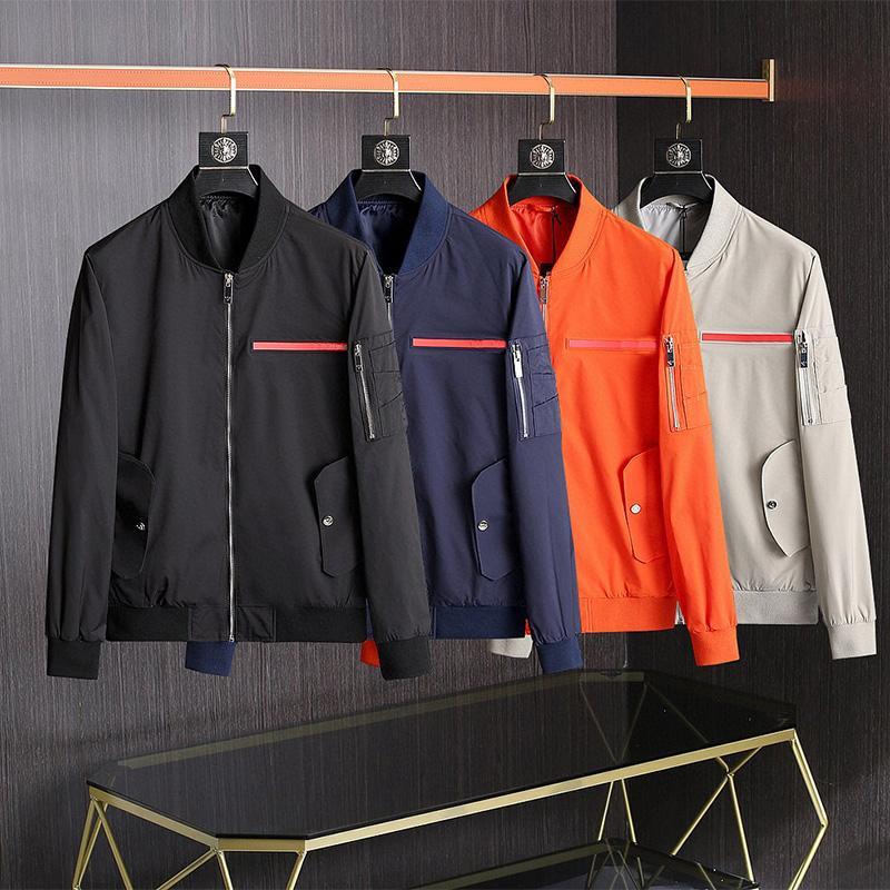 Giacca da uomo di moda Goo D Primavera Autunno Outwear Antivento a vento Zipper Vestiti Giacche Cappotto esterno Can Sport Euro Size Abbigliamento maschile M-3X