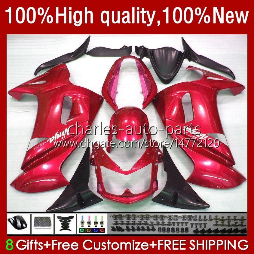 OEM Bodywork para Kawasaki Ninja ER 6 F 2006-2008 ER6 F 650 R 650R 06-08 Corpo 6No.128 650R-ER6F ER-6F ER 6F 2006 2007 2008 650-R ER6F 06 07 08 Receas de motocicleta Metallic Red