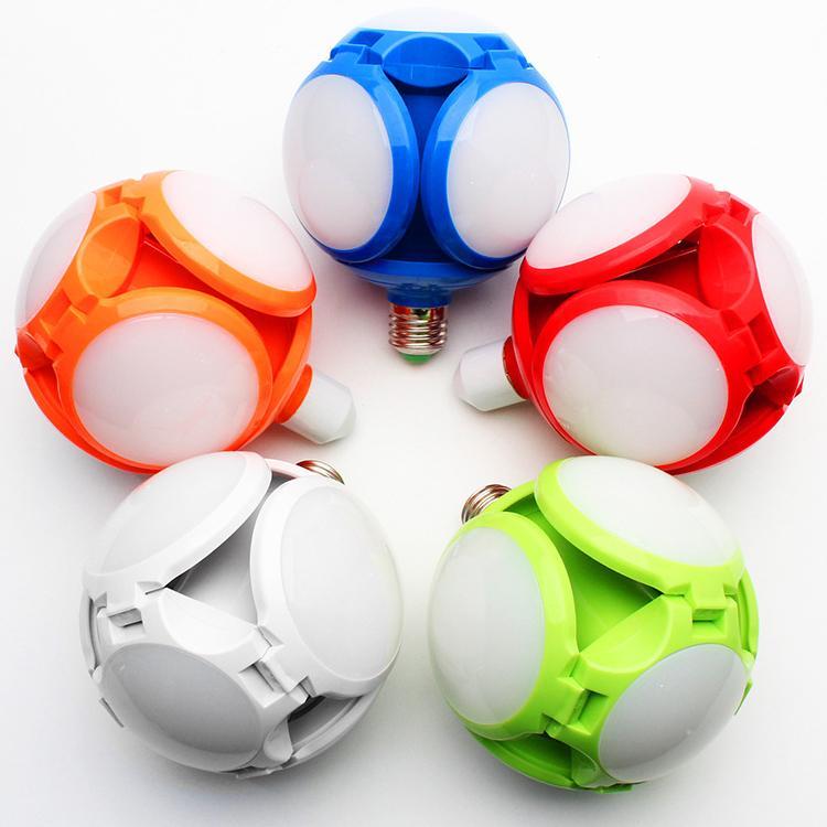 LED Folding Light Football Bulbs lighting Garage 40w 6500K Daylight White Street and Area E27 Medium Base 6000K 85V-265V