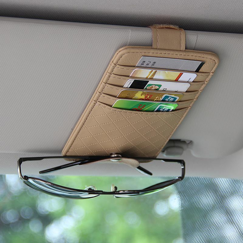 자동차 인테리어 용품 다기능 양고기 패턴 안경 홀더 명함 청구서 매달려 유형 기타 액세서리