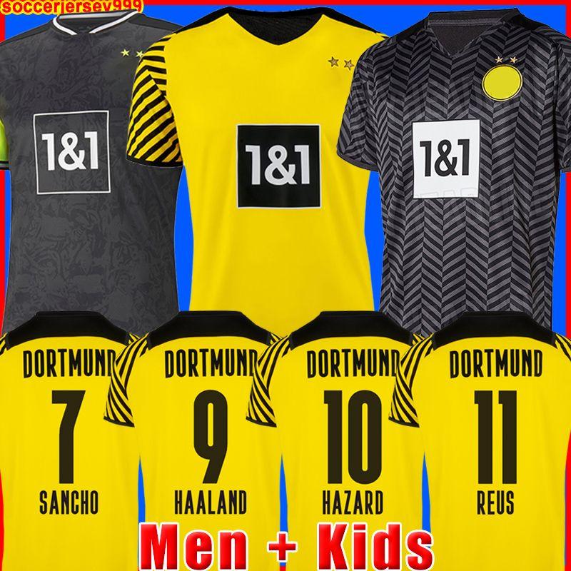 HAALAND REUS 21 22 camiseta de fútbol 2021 2022 chandal de fútbol BELLINGHAM SANCHO HUMMELS BRANDT hombres + kit para niños camisa de la soccer jersey cuarto