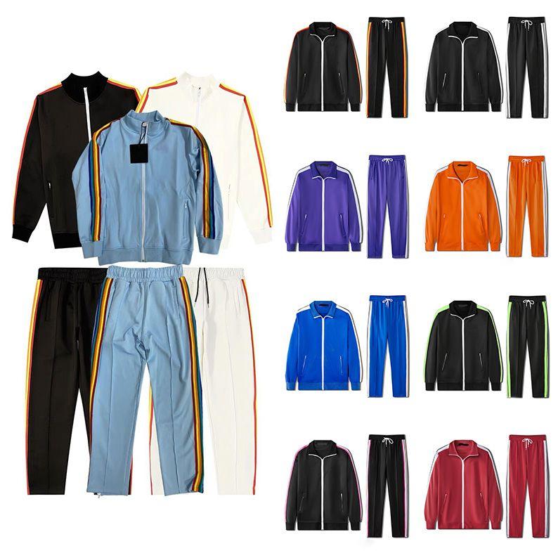 Mens Womens Tracksuits Felpe Felpe Abiti Uomo Pista Sweat Suit Cappotti Casual Casual con cinghia laterale a righe bianche necessarie in autunno e inverno