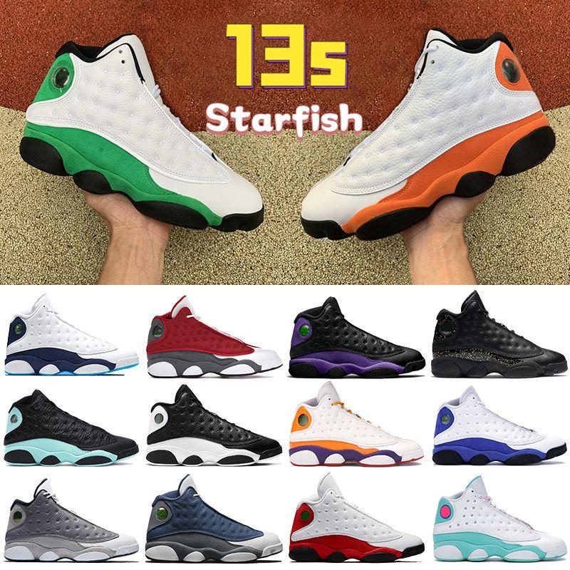 2021 13 13s homens sapatos de basquete Estrela do mar Black Court Roxo Obsidian Flint Vermelho Sorver Soar Verde Mens Mulheres Sneakers US 5.5-13
