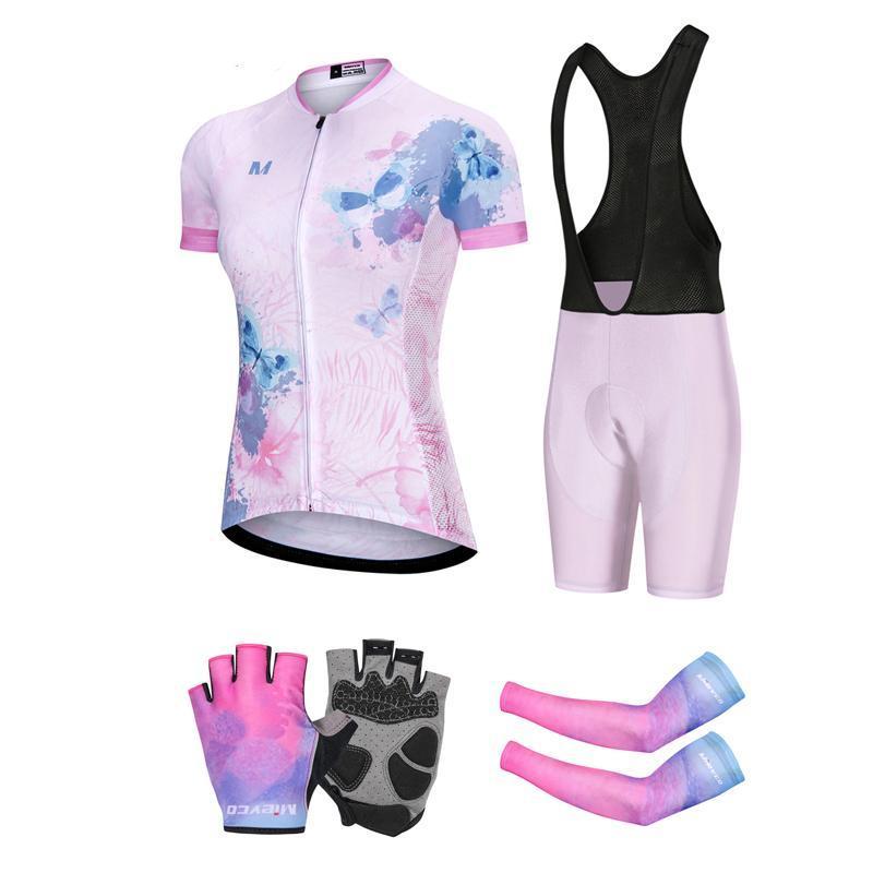 Гоночные наборы Летняя велосипедная команда Женский костюм Велоспорт Джерси набор Триатлон Skinsius Bamx Одежда Maillot MTB Uned BMX Outfit