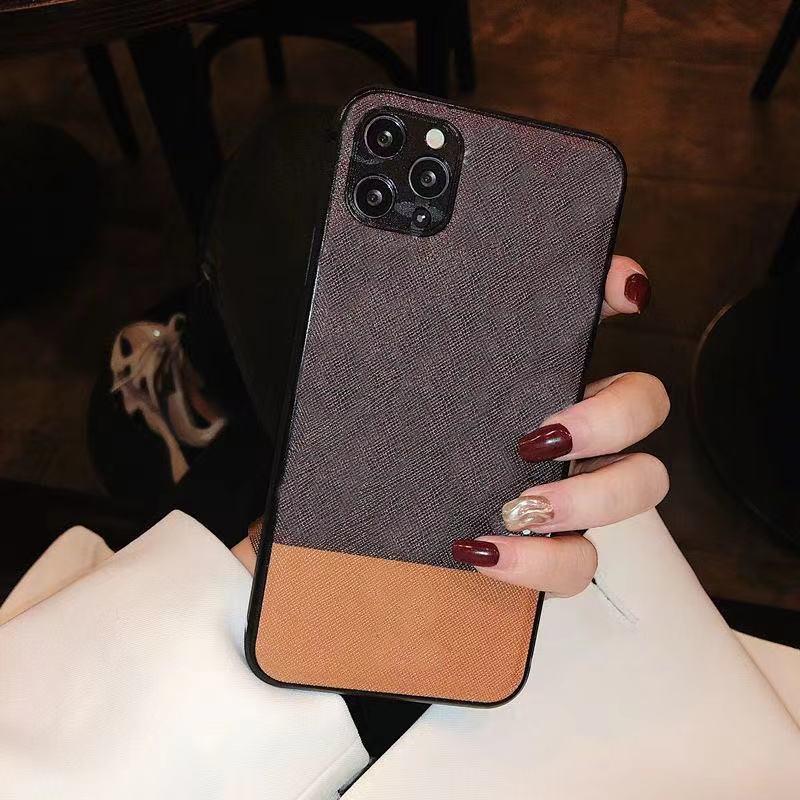 Moda Renk Eşleştirme Kılıfları Tasarımcılar Telefon Kılıfı Için iPhone 12 Pro 11 7 8 7 P 8P X MAX XR