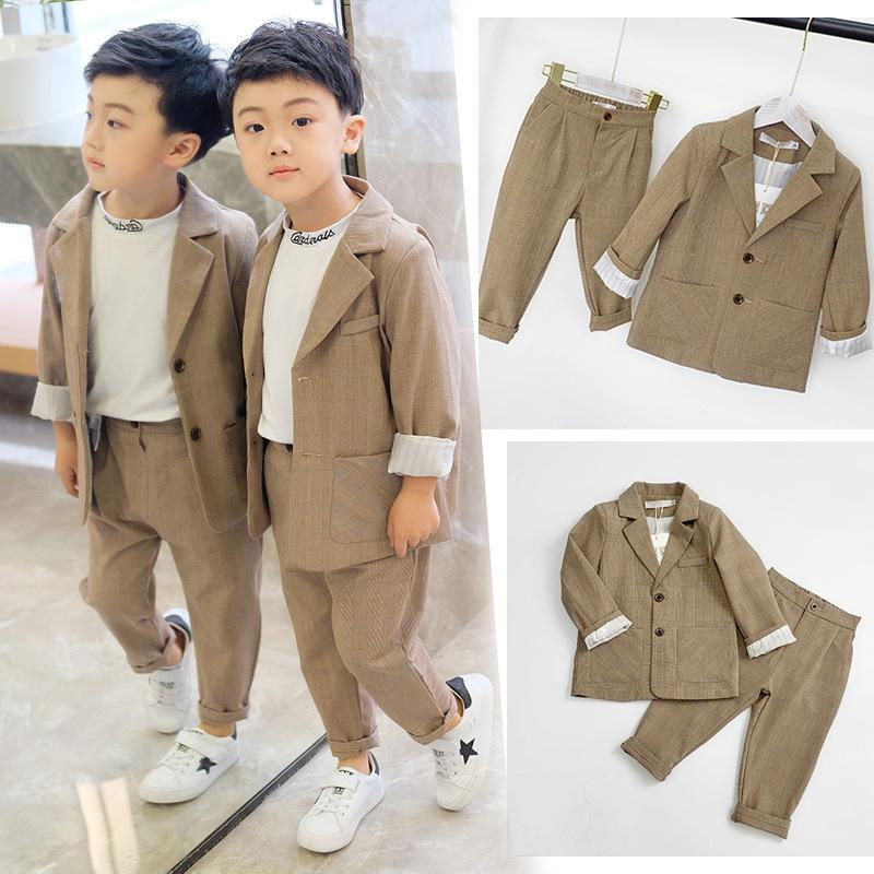New Korean Childrens Clothing for Boy and Girl Childrens Business Suit Leisure Two-Piece Set