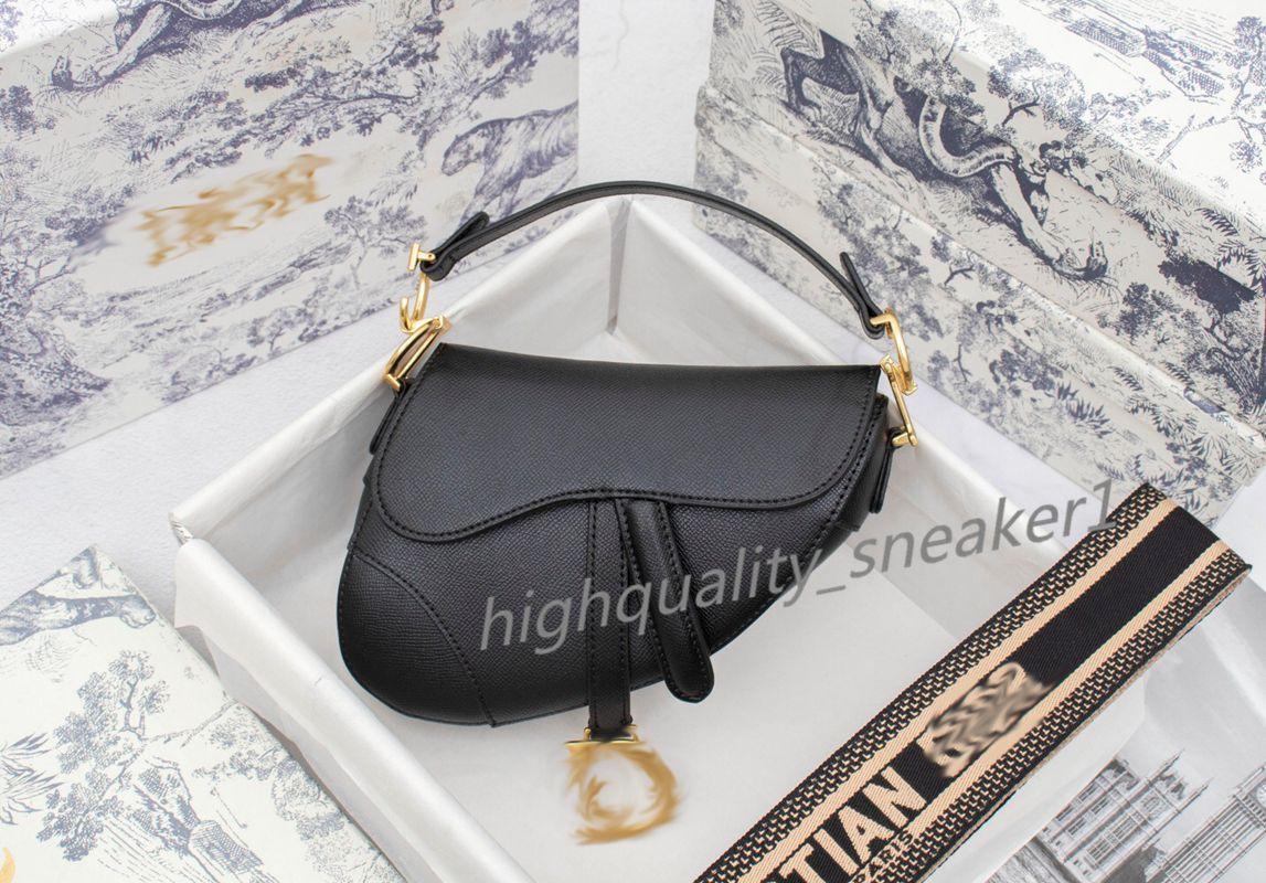 handbag luxe Genuine Leather 25cm Saddle top high quality women Crossbody bag Designered shoulder wallet clutch totes