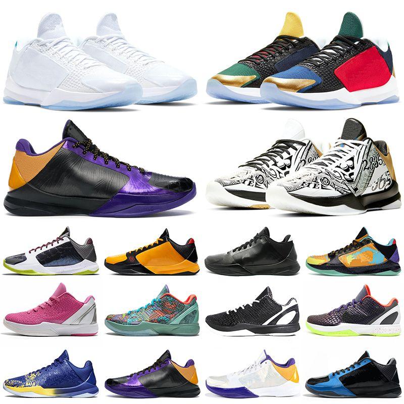كوبي كرة السلة أحذية الرجال 5 بروتو كبير المرحلة الفوضى مقدمة 6 فولاذ الأبيض ديل سول غابة الأخضر ليكرز جرينش رجل في الهواء الطلق المدربين الرياضة أحذية رياضية