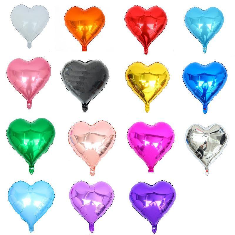 Pulgada de accesorios de globo en forma de corazón estrella de aluminio propuesta romántica decoración de cumpleaños fiesta de vacaciones