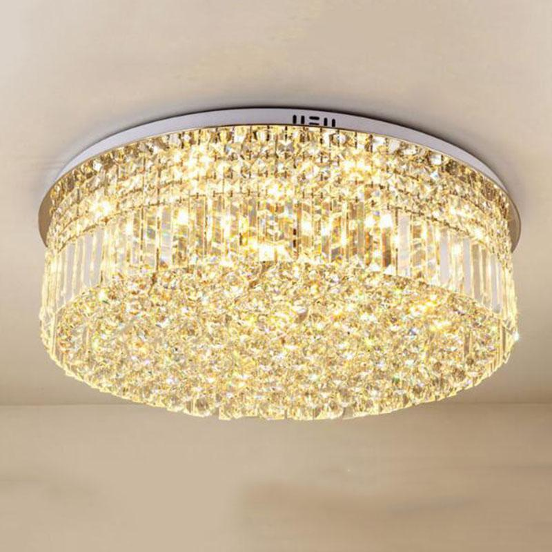 현대 K9 크리스탈 LED 천장 조명 침실 거실 부엌 둥근 램프 가정 장식 조명