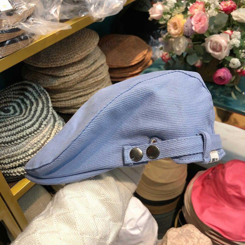 2021 new women's Korean pure cotton breathable forward hat British cap visor