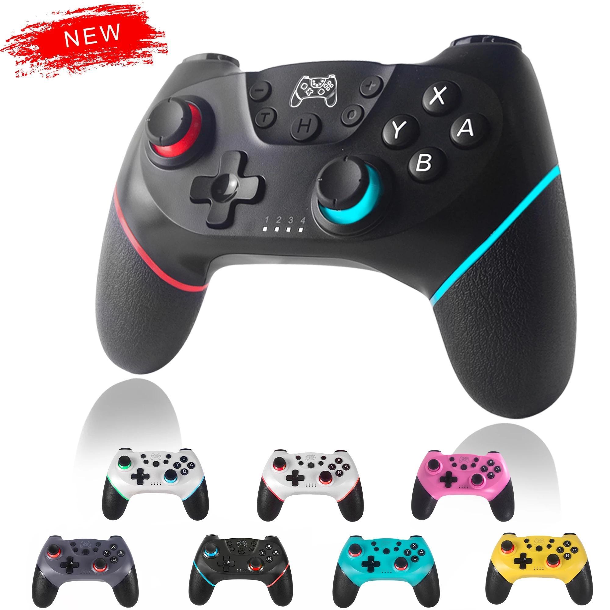 Atualizado Bluetooth Gamepad Controller para N-Switch, Interruptor Sem Fio Controladores de Jogo Remoto Controladores Joystick Jogos Acessórios Joysticks
