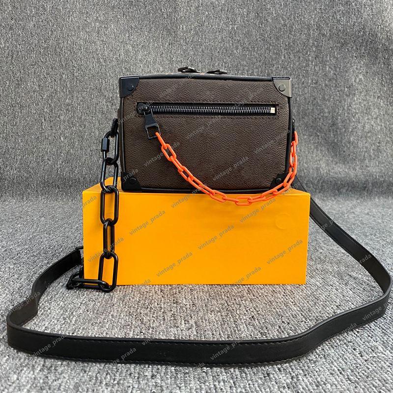 Venta de bolso de bolso Tronco suave Paquete de pecho Lady Tote Cadenas Mano Bolsas de mano Tapa calidad presbiopic bolso bolsa de cuero Crossbody Diseñador de lujo Hobo Vintage