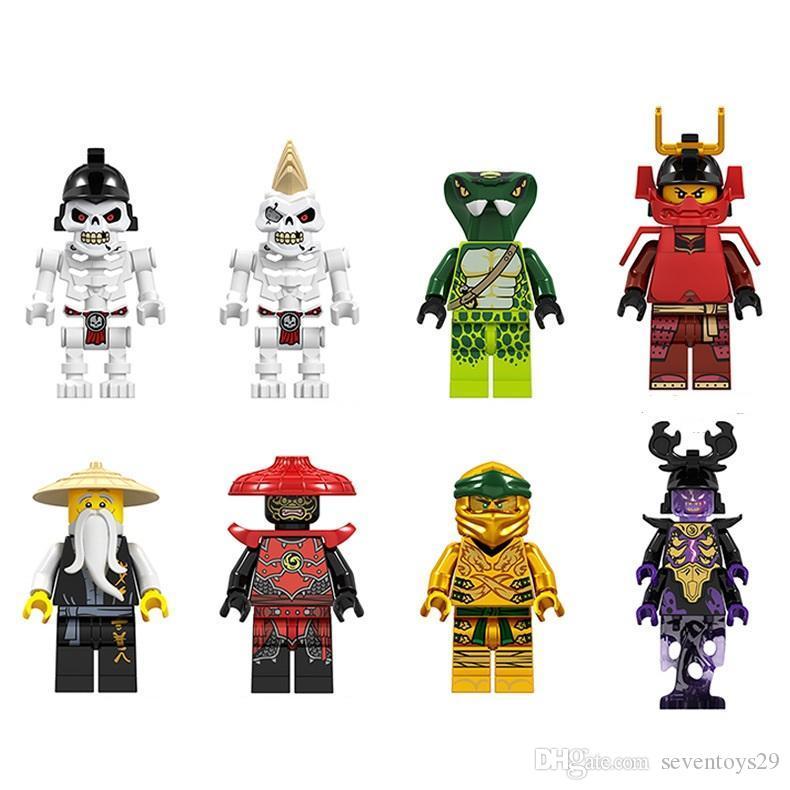 8PCS / LOT Cartoon Mini Figures Minifig Brick Building Blocks Kids Educational Toy Gift