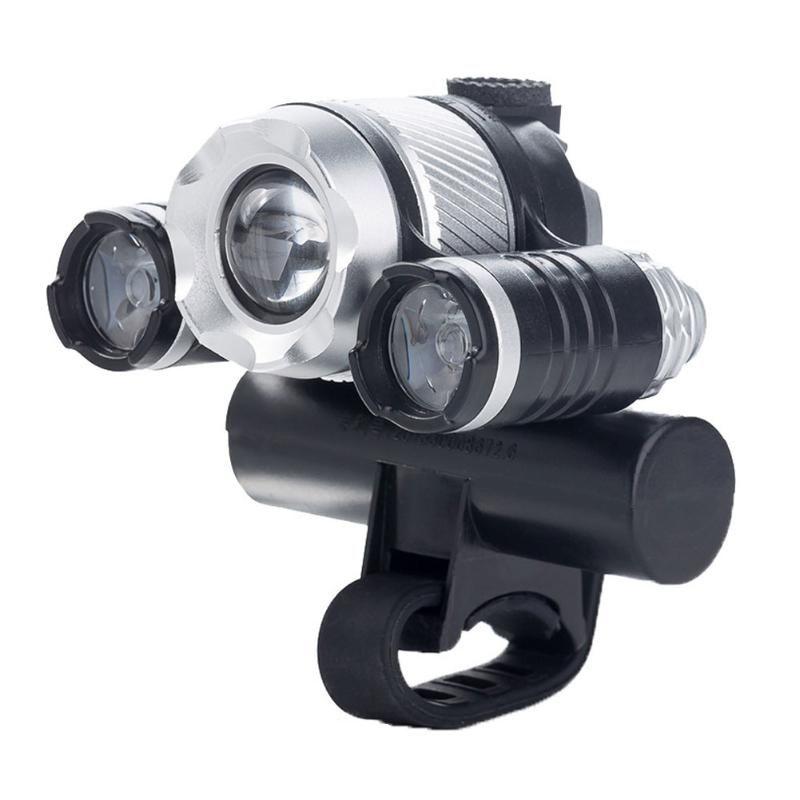 Bisiklet Işıkları Su Geçirmez 800LM USB Şarj Bisiklet LED T6 Ön Işık 3LED Lamba Açık Bisiklet Kiti Gece Binme