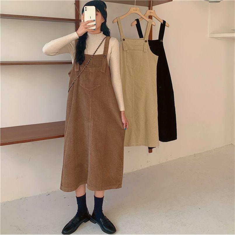 크기 가을 드레스 소녀 Boho 파티 여성 빈티지 긴 민소매 sundress 여성 es robe vestido 210423