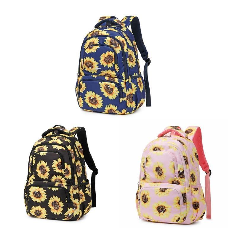 Backpack Sunflower Laptop With Reflective Strip, Floral Girls Bookbags Women Casual Daypack Lightweight School Bag College Fit