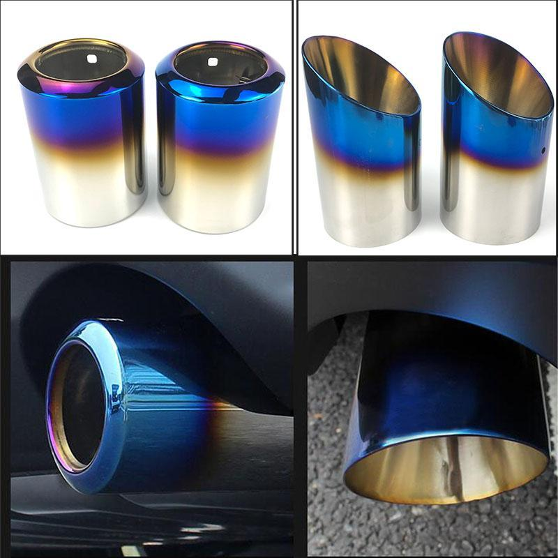Manifold & Parts 2x STAINLESS STEEL EXHAUST TAIL REAR MUFFLER TIP PIPE For 6 Atenza CX-5 CX-4 CX-30 3 Axela