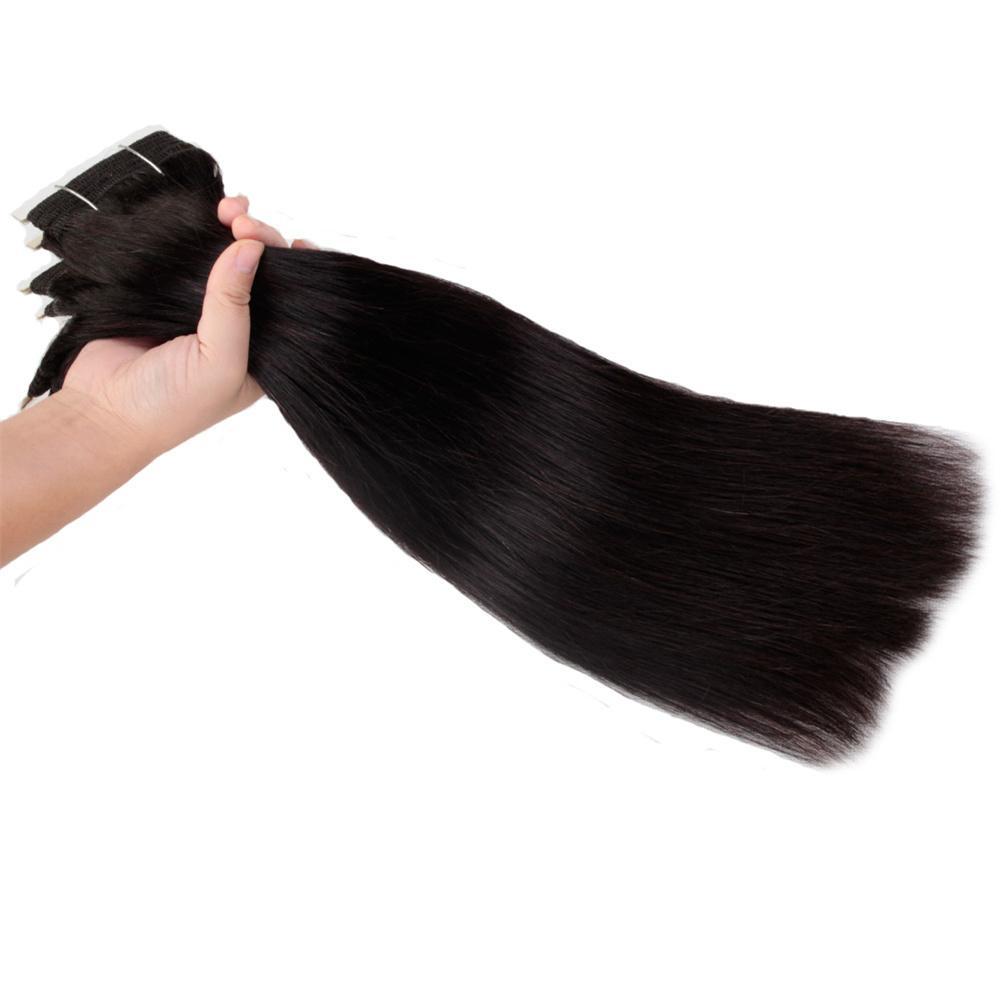 9A Virgin Remy Human Hair Extensions Unprocessed 4 Bundles Straight Brazilian Peruvian Malaysian Indian Weaves Weft