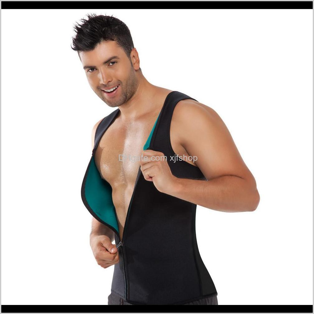 Gym Clothing Exercise Fitness Wear Athletic Outdoor Apparel Sports Outdoors Drop Delivery 2021 Mens Bodyshaper Neoprene Sweat Corset Slimming