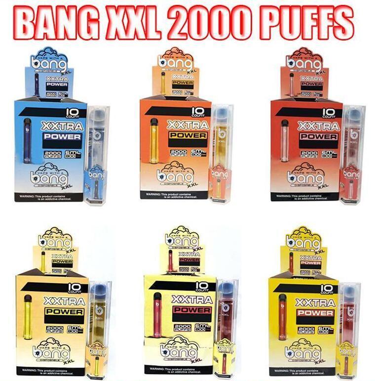 Bang XXL jetable Vape Cigarettes électroniques Dispositif 800mAh Batterie 6ml Pods VS Puff Max