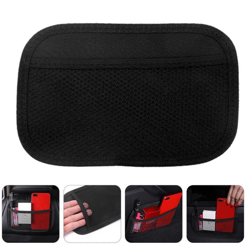 Car Organizer 2pcs Interior Storage Bag Multifunctional Seat Back Sticky