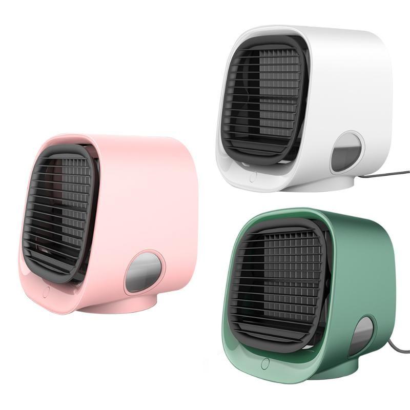 مروحة تبريد الهواء مصغرة مكيف سطح المكتب مع ضوء الليل المحمولة جيب مرطب تنقية متعددة الوظائف الصيف الأخرى ديكور المنزل