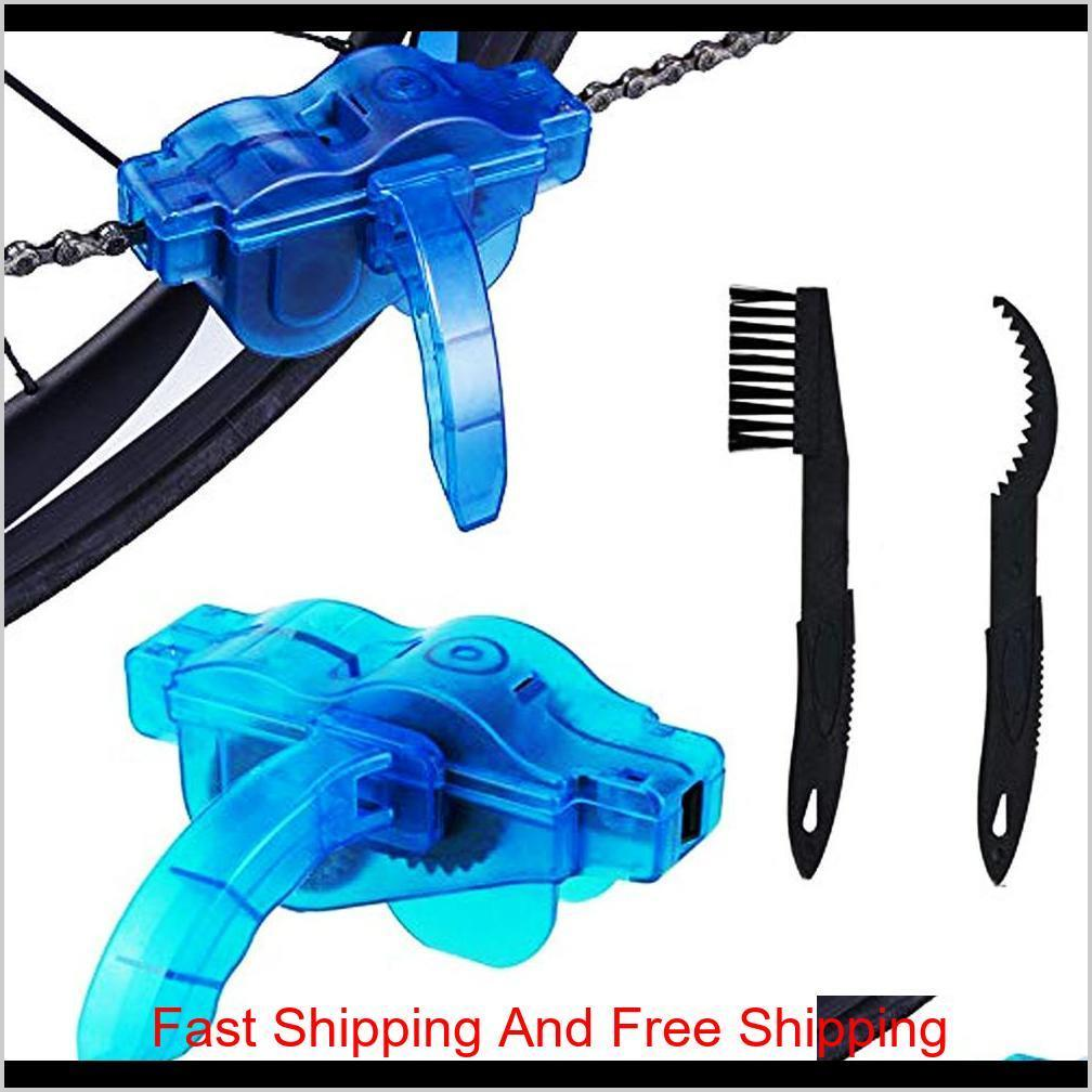 Lubrication Tools Maintenance Sports Outdoors Scrubber Bike Chain Cleaner Tool Motorcycle Bicycle Gears Washer Quick Cleaning Brush Ki