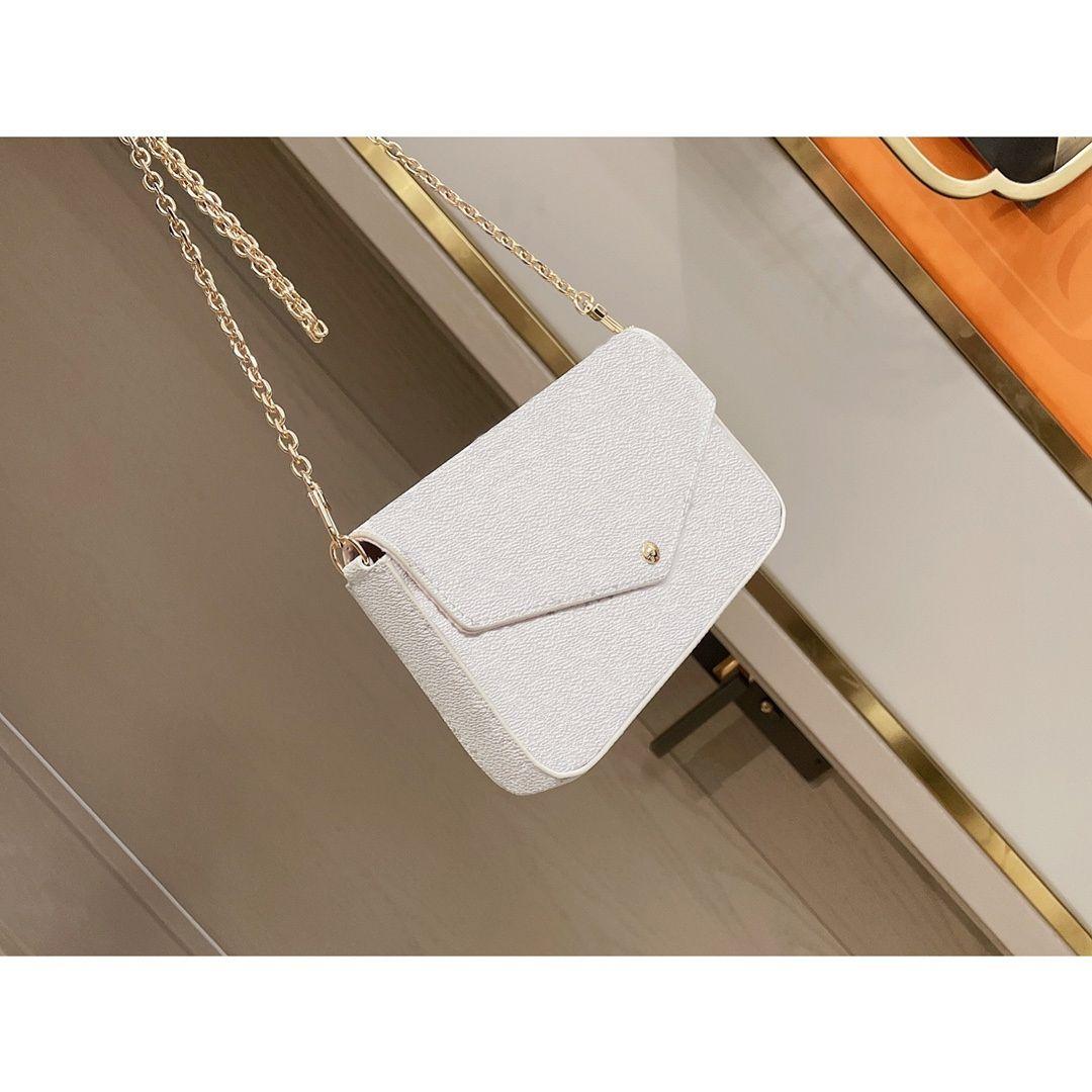 Top Quality Luxurys Designers Moda Crossbody Bagseving Bolsa Mini Pacote Messenger Baglady Baglady Saco Cartão Titular Bolsa Mini Saco 3 Piece # 08