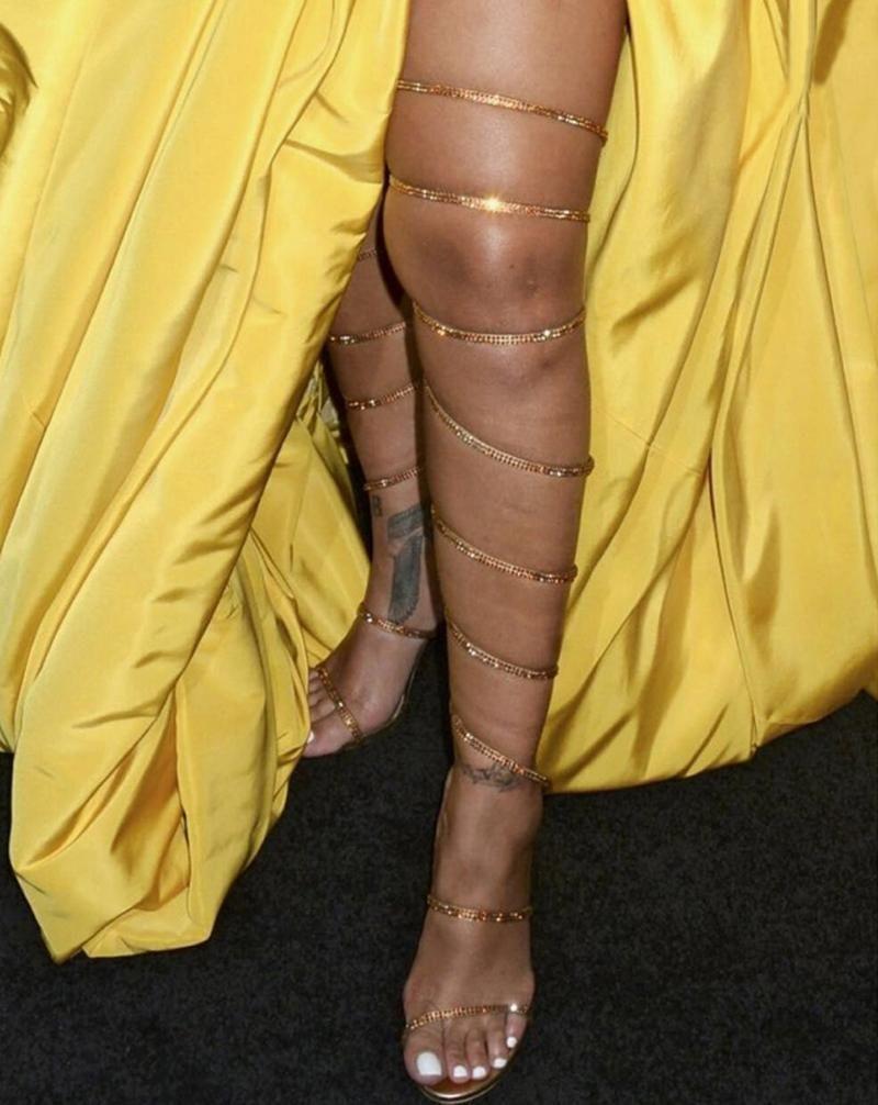 الكريستال المصارع الصنادل النساء ثعبان الركبة عالية الكعب المفتوحة تو منصة أزياء حفل زفاف الأحذية