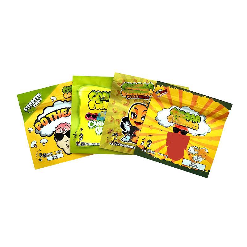 Potheads vuoti 250 mg Trrlli Baribo Bag di caramelle infuso Medibles Delta 8 Gummies Mylar Edibles Borse da imballaggio