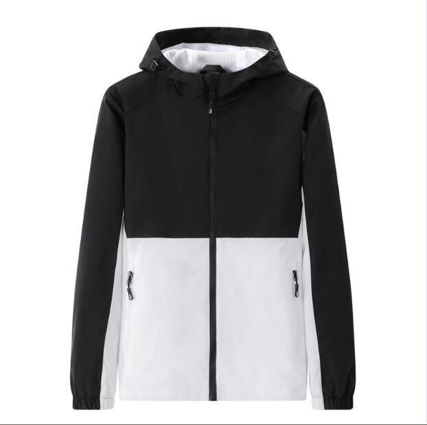 Moda Erkekler Ceketler Mektup Baskılı Kapüşonlu Mont Unisex Açık Hip Hop Streetwear Bahar Sonbahar Spor Ceket Nedensel Ceket L-5XL JK21101