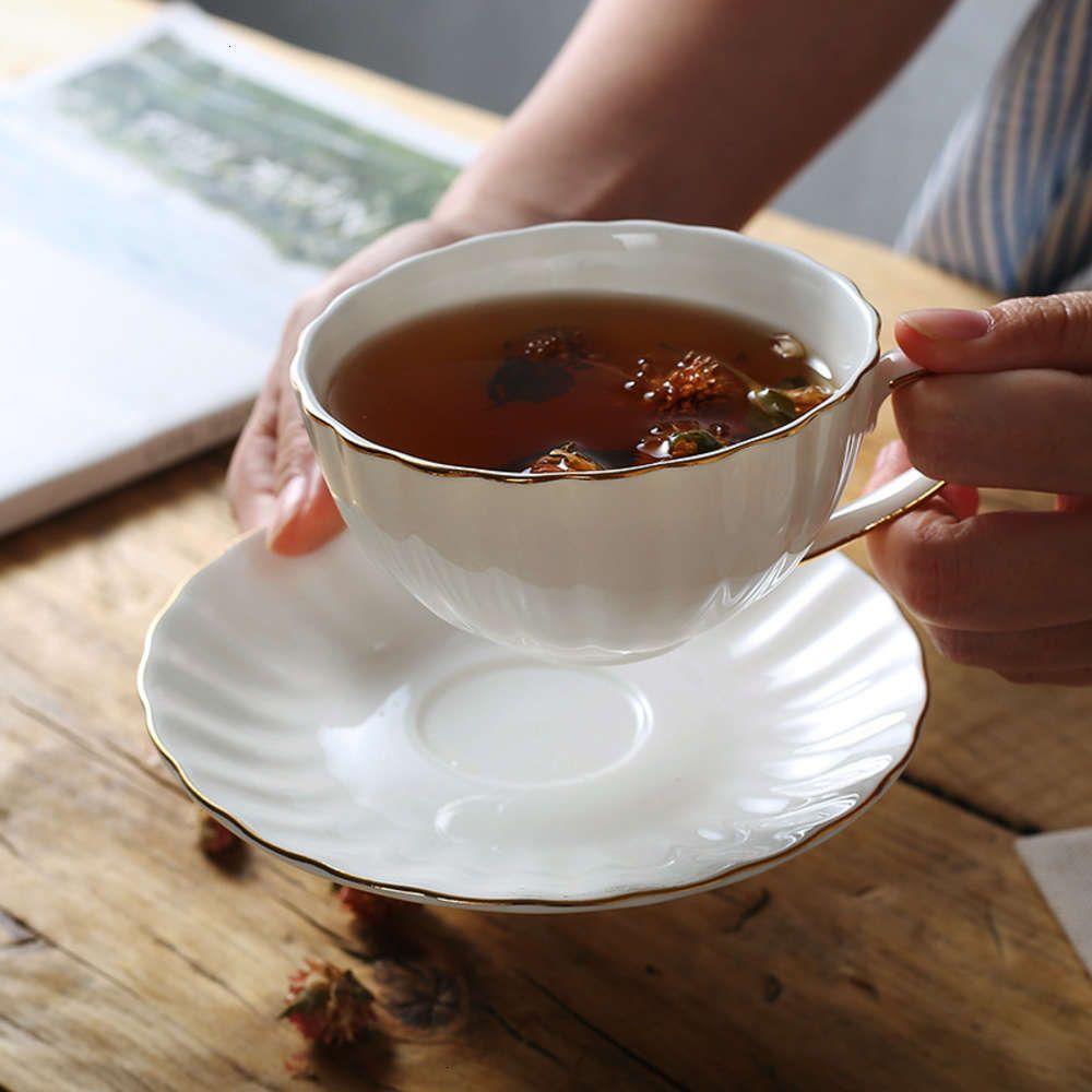 Anpleteware Europe Consite Concincentity Фарфоровая для кофе-блюдце 210 мл Керамическая чашка чая Чашка чая для чая